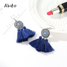 18 Kinds Boho Style Trendy Bohemian Red Yellow Pink White Black Tassels Dangle Earrings Vintage Drop For Women Gifts