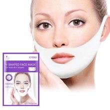 Mascarilla facial de realce con escote en V para mujer, máscara reafirmante, adelgazante, para mejillas, arrugas lisas, crema para cara y cuello, mascarilla de vendaje