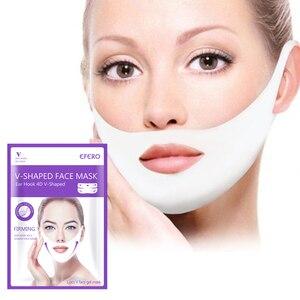 Image 1 - Mulheres levantar v rosto queixo máscaras levantamento firmando emagrecimento bochecha rugas suaves creme rosto pescoço casca fora máscaras bandagem máscara facial