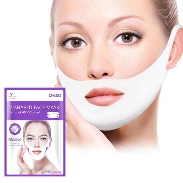 Mulheres levantar v rosto queixo máscaras levantamento firmando emagrecimento bochecha rugas suaves creme rosto pescoço casca fora máscaras bandagem máscara facial
