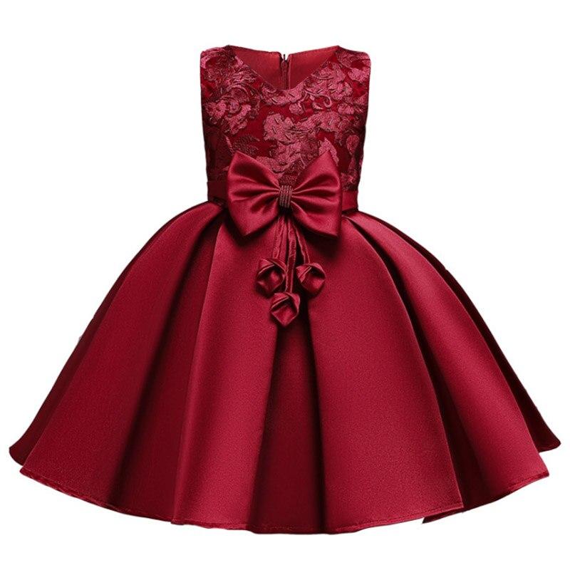 High Quality Ladies Dress Flower Girl Dresses For Wedding Girls Dress First Communion Princess Beading Dress Baby Tutu Costume