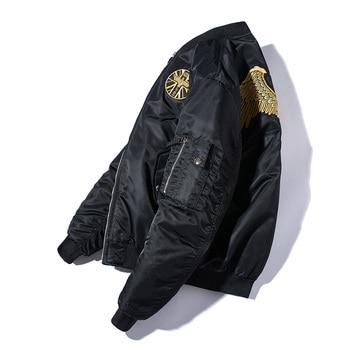 Black Modern Jacket Boys Embroidered Coat Men's Spring Black Autumn Jacket Fashion Student Loose Brand Couple Bomber GG50jk