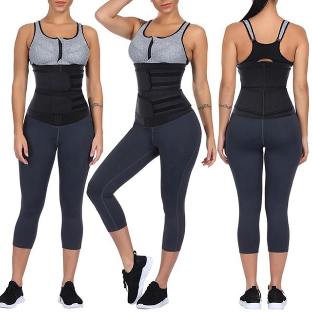 Waist Trainer Sweat Slimming Belt Women Waist Trimmer Tummy Control Butt Lifter Weight Loss Shapewear Body Shaper Corset 1