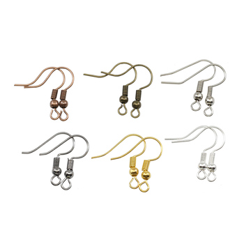 200pcs/lot 20x17mm Earring Findings Ear Clasps Hooks Fittings DIY Jewelry Making Accessories Iron Hook Ear wire Jewelry Supplies 12pcs diy accessories color protection plating ear hook plating simple thread earrings spring ear hooks for women
