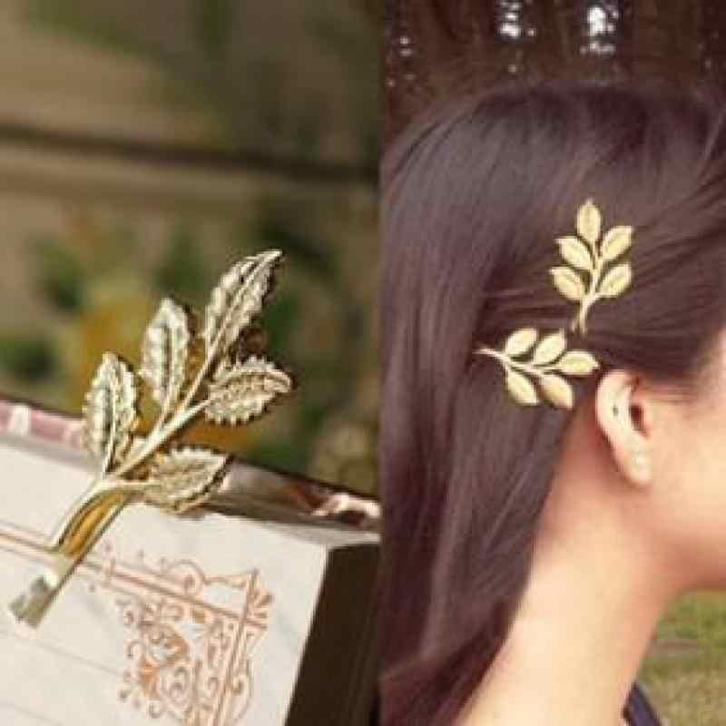 Европейский и американский Ретро Sen Отдел оливковых веток листья красивая свадебная Ювелирная заколка боковая папка Бесплатная доставка
