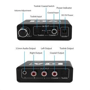 Image 2 - Caldecott DAC البصرية Toslink محوري ثنائية الاتجاه التبديل RCA 3.5 مللي متر جاك الرقمية إلى التناظرية محول الصوت محول