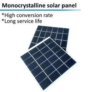 Image 3 - 2W 6V Mini güneş paneli pili güç modülü 350mah pil hücresi telefon şarj ışığı DIY güneş oyuncaklar