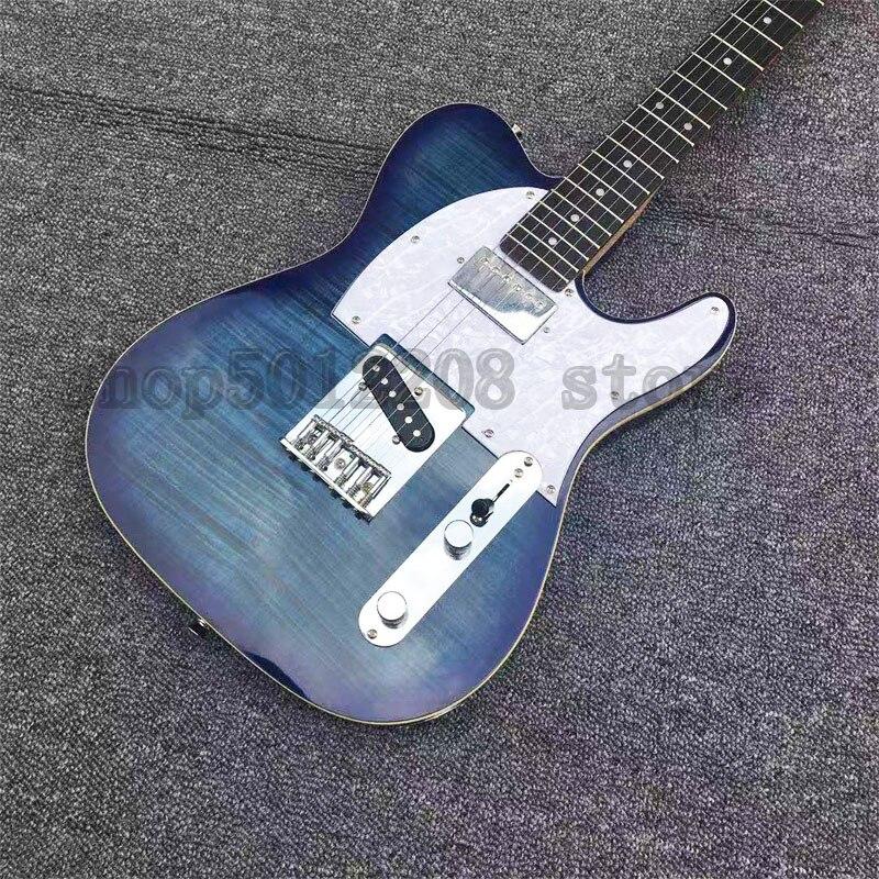 Guitare électrique de Tele de matériel de Chrome, guitare électrique de corps d'aulne chinois de Boutique bleue, écrou de TUSQ de technologie de graphique, GALLISTRINGS