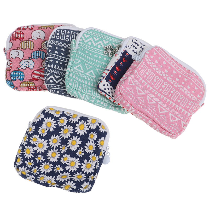 Makeup Bag Multi-functional Wet Bag Reusable Bag For Mama Cloth Pads Menstrual Pad Sanitary Pads Bags Can Be Coin Makeup Tool