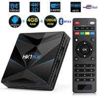 HK1 Spielen Android 9.0 Smart TV Box Amlogic S905X2 4GB RAM 128GB ROM USB 3.0 BT4.0 2,4G/5G Dual WIFI 3D 4K H.265 IPTV Set Top Box