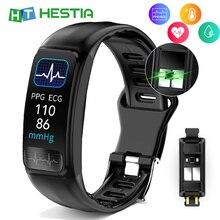 Fitness Bracelets Tonometer Blood-Pressure Cardio-Plus Clock-Band Measuring-Watch Activity