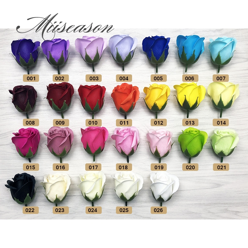 Image 3 - 50pcs Diameter 4.5cm Cheap Soap Rose Head beauty Wedding Valentine's Day Gift Wedding Bouquet Home Decoration Hand Flower Art-in Artificial & Dried Flowers from Home & Garden