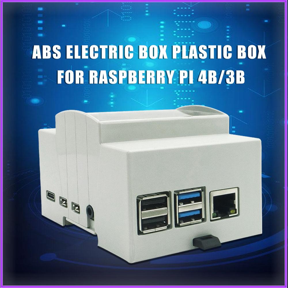 Raspberry pi 4 modelo b caso abs caso branco caixa protetora gabinete para raspberry pi 4 / 3 b + / 3 b dropship