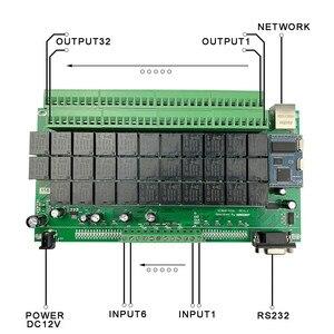 Image 5 - 32CH domoticaスマートホームキットオートメーションモジュールコントローラネットワークイーサネットtcp ipリレースイッチシステム 32 ギャング