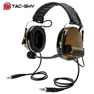 Image 2 - TAC SKY COMTAC III לעבור כפול סיליקון earmuff גרסה רעש הפחתת טקטי אוזניות + 2 צבאי מתאם KENWOOD U94 PTT