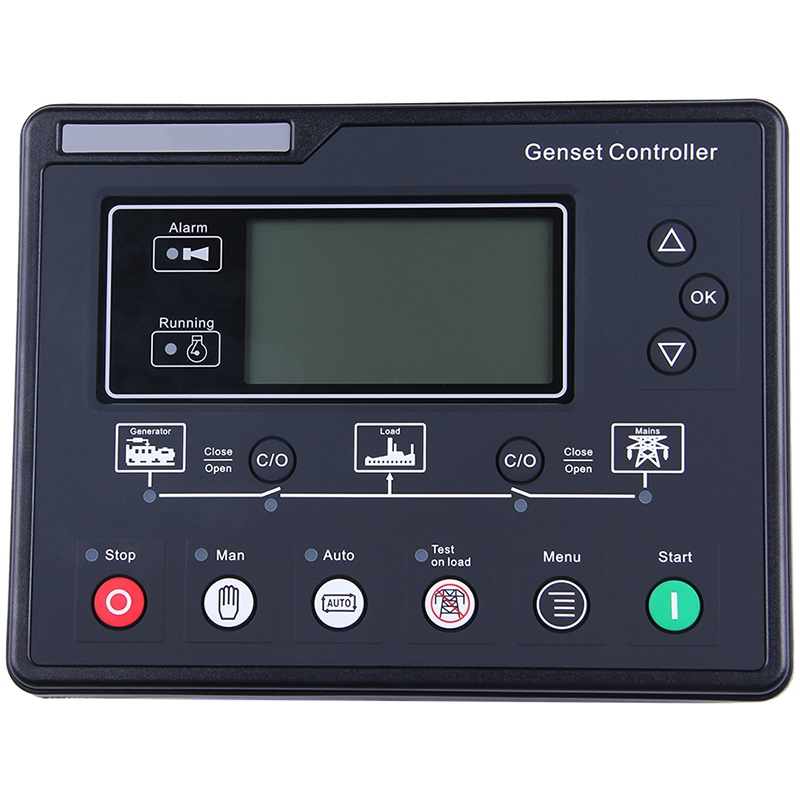 SL6120U AMF Generator Set Controller LCD Automatic Start Genset Ats Control Box Terminal Charge Panel Alternator Part 6120