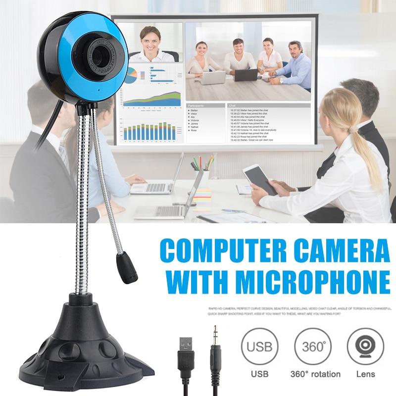 Webcam 480P Full HD Webcam USB Desktop Laptop Webcam Live Streaming Webcam with Noise-cancelling Microphone VDX99