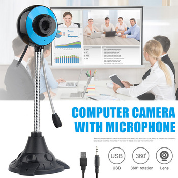 Webcam 480P Full HD Webcam USB Desktop Laptop Webcam Live Streaming Webcam with Noise-cancelling Microphone VDX99