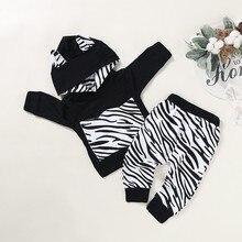 Милый весенне-осенний комплект одежды для маленьких мальчиков, толстовка в полоску с длинными рукавами и принтом, топы и штаны, костюм со штанами