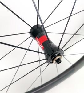 Image 5 - 700C 60 มม.ความลึกถนนจักรยานคาร์บอนล้อ 25 มม.ท่อ/Clincher Carbon wheelset UD Matte FINISH EVO decals