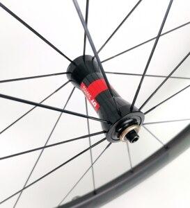 Image 5 - 700C 60mm depth road bike carbon wheels 25mm width Tubular/clincher bicycle carbon wheelset UD matte finish EVO decals