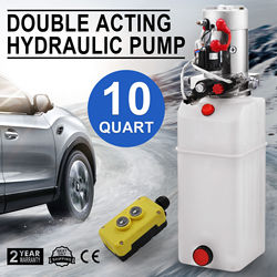 10 Quart Double Acting Hydraulic Pump Dump Trailer Repair Unit Pack Lift