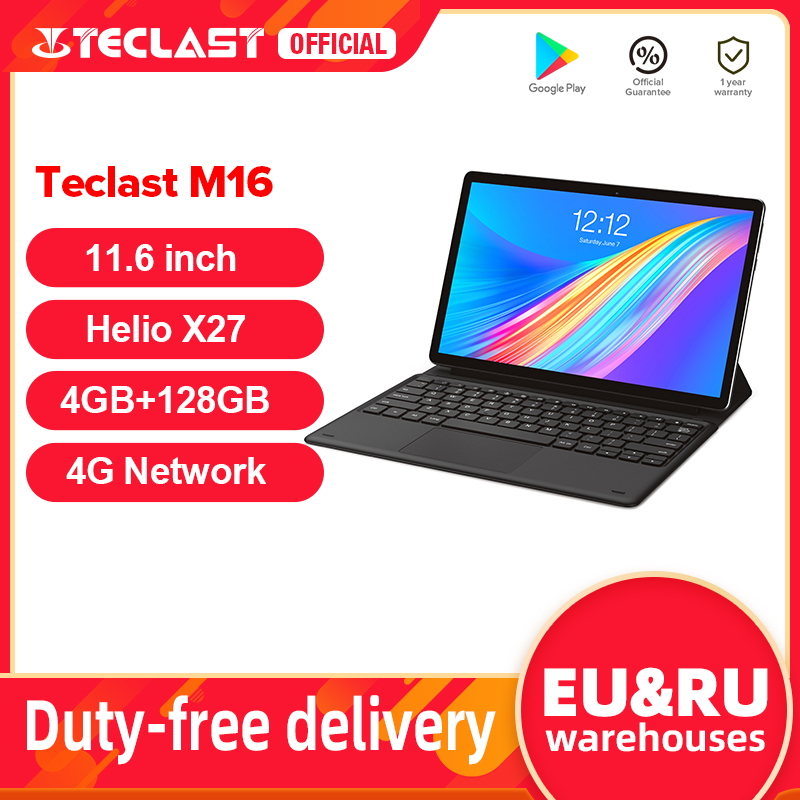 Android Tablet Dual-Camera Type-C Deca-Core Teclast M16 Helio 4G X27 PC Docking 7500mah