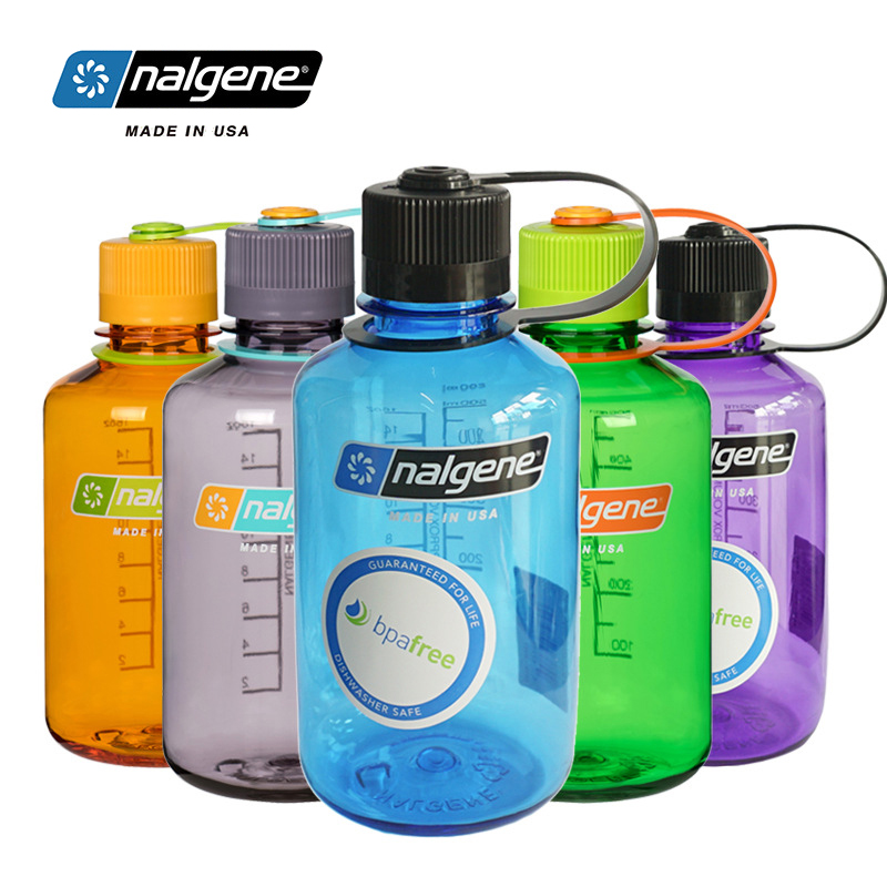 Nalgene Outdoor Students Sports Water Cup Fashion Portable Leakproof Bottle Plastic Kettle 500ml Hiking Cycling Travel