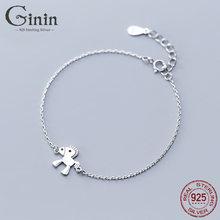 Женский милый модный браслет ginin из стерлингового серебра