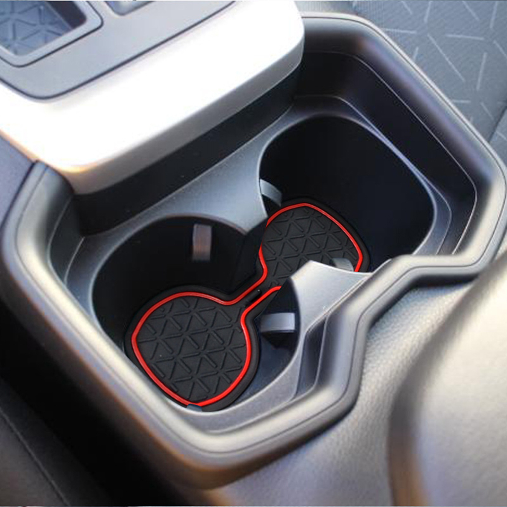 Car Door Groove Mat Fits For Toyota RAV4 2019-up 3D Rubber Interior Anti Slip Mat Cup Pads Door Pad Red,White,Black,Blue