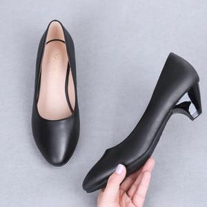 Image 2 - YALNN Zapatos De Mujer Zapatos blancos De tacón alto pico 3/5/7cm Zapatos De tacón puntiagudos Mujer zapatos de fiesta para novia talla grande