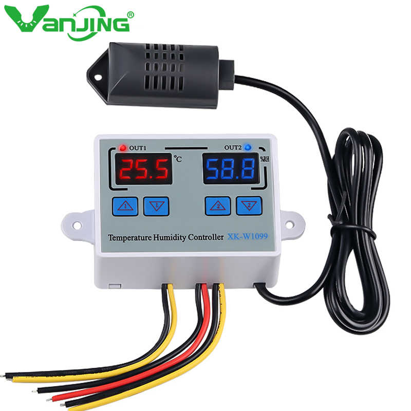 Blue DC12V Digital Thermometer Temp+5m meter Probe 50~110℃ Temperature Detector