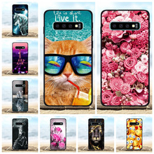 For Samsung Galaxy S10 Cover Soft TPU SM-G973F SM-G973U SM-G973W Case Lion Pattern Coque