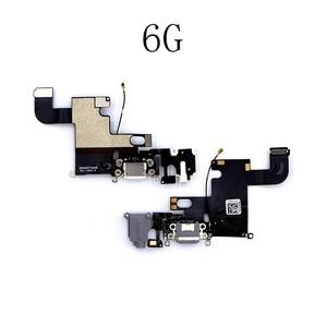 Image 4 - LEOLEO USB зарядный порт док станция для зарядки с гибким кабелем для iPhone 4G 4S 5G 5S 5C SE 6G 6 plus 6S Mircophone с аудиоразъемом и наушниками
