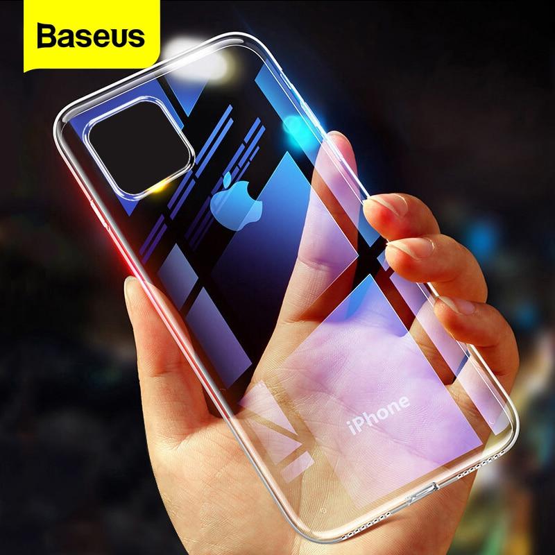 Прозрачный чехол Baseus для телефона iPhone 12 11 Pro XS Max Xr X, Ультратонкий Мягкий силиконовый чехол из ТПУ для iPhone 12Pro Max
