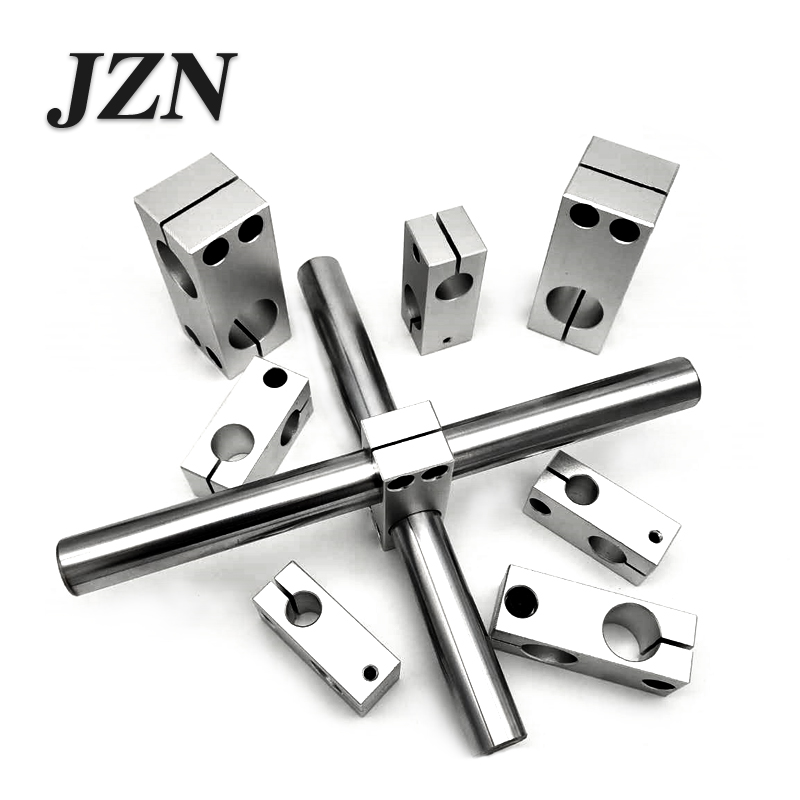 Pillar Fixing Clamp Vertical Fixed Diameter Fastening Aluminum Alloy Optical Axis Cross Block Steel Pipe Fixing Bracket Connecti
