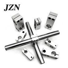 Braçadeira de fixação do pilar, fixador vertical de diâmetro fixo, liga de alumínio, bloco transversal, tubo de aço, conector