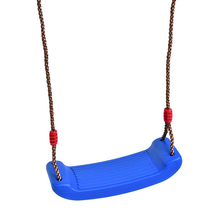 Child Outdoor Classic Garden Tree Swing Rope Seat Molded Kids Plastic Swings Belt Seat Kindergarten Playground Hanging Toy J75 children toy swing outdoor indoor plastic ladder rope playground games for kids climbing rope swing plastic 6 rungs pe rope