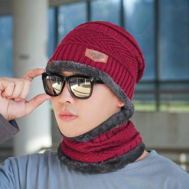 COKK Winter Beanie Hat For Men Knitted Hat Winter Cap Beanie Women Thick Wool Neck Scarf Cap Balaclava Mask Bonnet Hats Gorras 4