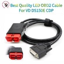 OBDII 16 pin LED główny kabel nadaje się do VD DS150E CDP vd tcs cdp pro OBD2 kabel obd 16pin przewód do testowania multidiag pro kabel