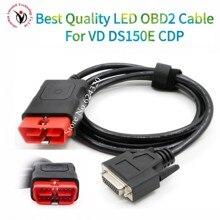 OBDII 16 pin cavo principale LED Adatto per VD DS150E CDP vd tcs cdp pro OBD2 cavo obd 16pin test cavo multidiag pro cavo
