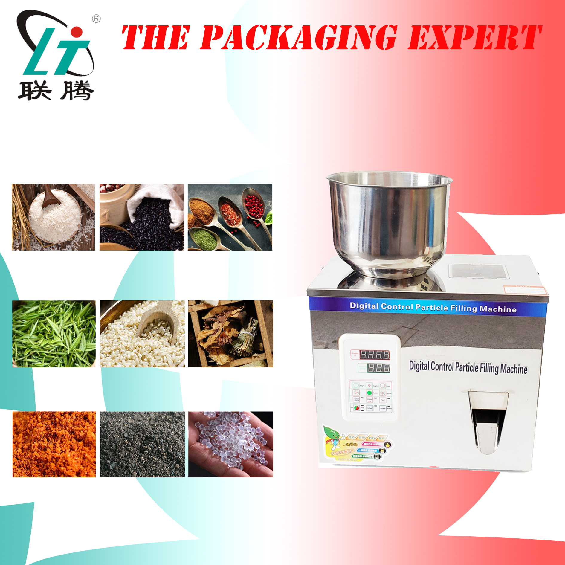 Scale Herb Filling And Weighing Machine Tea Leaf Filler Automatic Packing Machine Particle Powder Capsules Racking Device