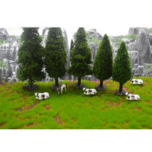 Ho N scale railway train Archeitecture Model Trees Landscape Train Railway Multi-height Diorama Plastic Green