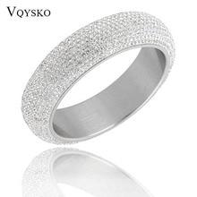 2019 novos estilos de largura pesado aço inoxidável pulseiras para a mulher brilhando mulheres pulseiras com bom branco cz cristal austríaco