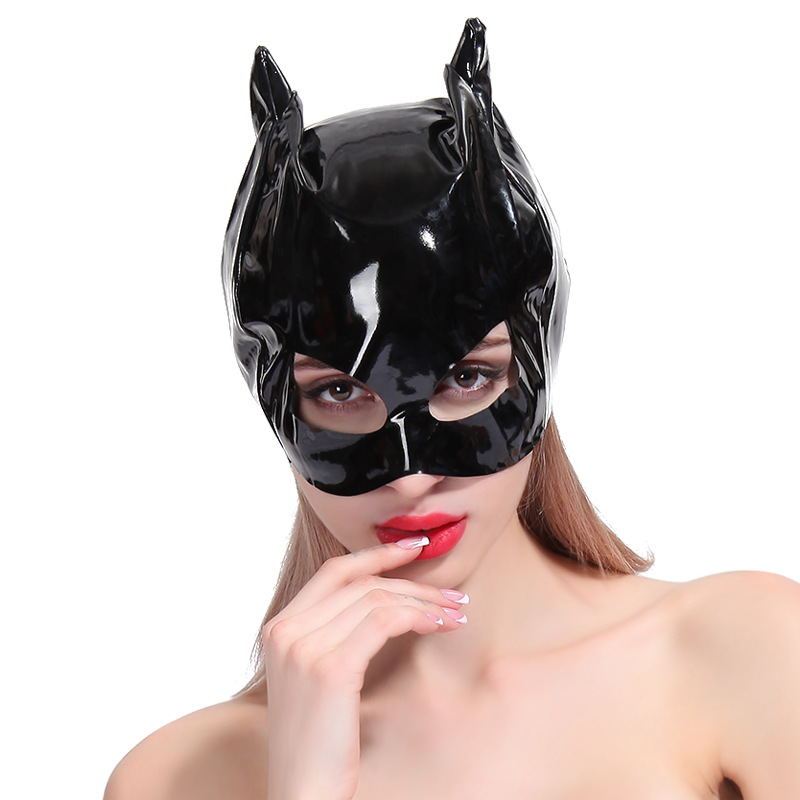 Anime Cosplay <font><b>Sexy</b></font> Latex Catwomen Mask Leather Fetish Cat Hood Half Face Mask <font><b>Halloween</b></font> Cosplay <font><b>Costumes</b></font> <font><b>for</b></font> Disguise <font><b>Women</b></font> image