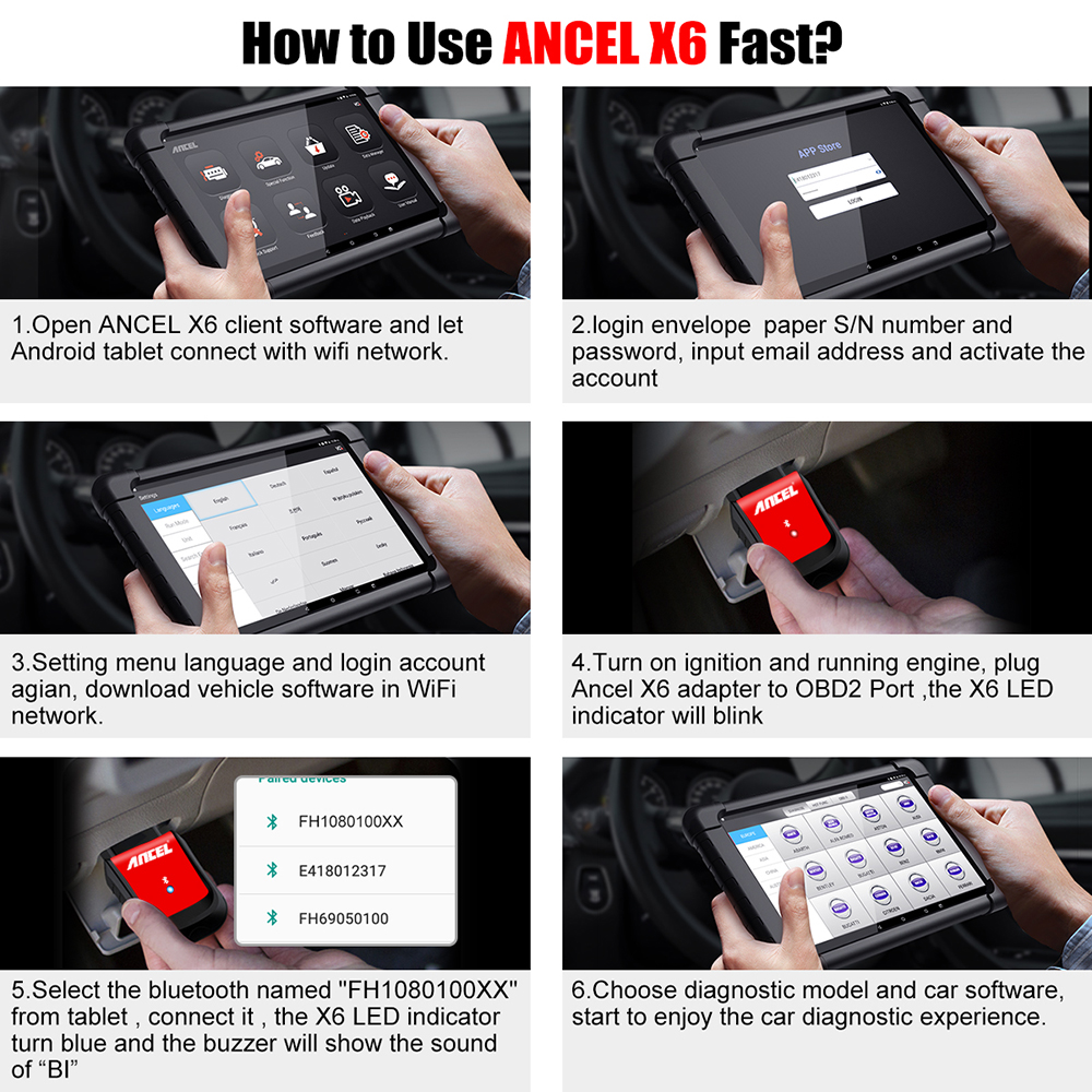 Image 5 - Ancel X6 OBD2 Automotive Scanner Wifi BT Obd 2 ABS Airbag Oil EPB DPF Reset Android Bluetooth Car Diagnostic Tool Free Update-in Code Readers & Scan Tools from Automobiles & Motorcycles on