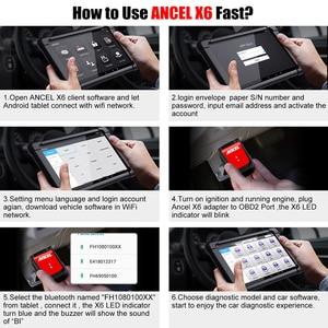 Image 5 - Ancel X6 OBD2 Scanner Bluetooth Professional Obd 2 Car Tools ABS Airbag Oil EPB DPF Reset Automotive Scanner Car Diagnostic Tool