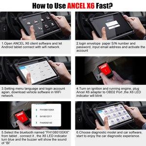 Image 5 - אנצ ל X6 OBD2 סורק Bluetooth מקצועי Obd 2 רכב כלים ABS כרית אוויר שמן EPB DPF איפוס רכב סורק רכב אבחון כלי