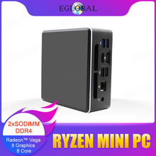 Eglobal amd ryzen 5 3550h quad core mini pc vega 8 gráfico 4k uhd dp hd2.0 tipo-c desktop gaming computador nvme ssd ac wifi bt