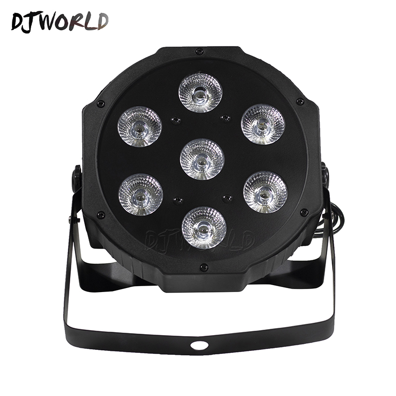 Wash Uplighting 7x12W Led Par Light RGBW 4in1 Flat Par Led Dmx512 7 Channels Professional Stage Dj Equipment Event Disco Lights